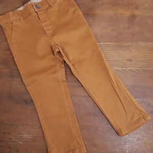 H&M |  Infants Camel Colored Twill Pants | 1.5-2Y
